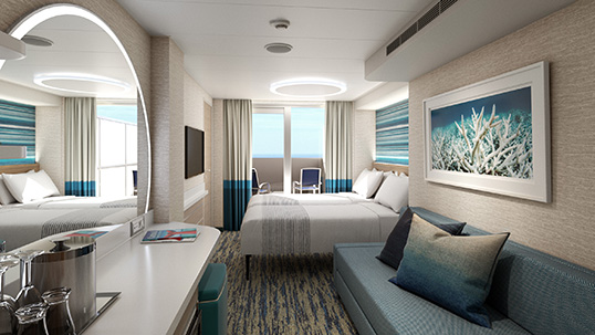 Carnival Mardi Gras Forward-View Extended Balcony Stateroom
