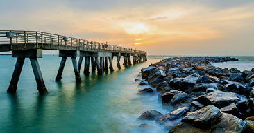 take a walk down the jetty park beach fishing pier by port canaveral