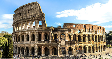 view of the coliseum in rome, italy