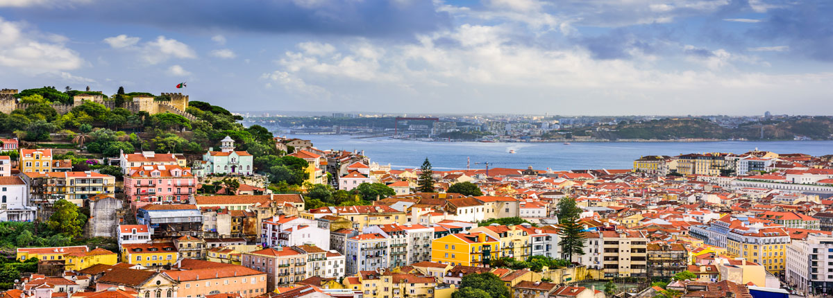 View of the Lisbon, Portugal cityscape