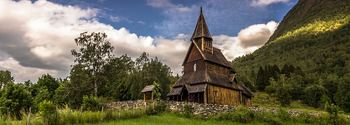 the urnes stave church in skjolden, norway