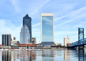 scenic view of the jacksonville skyline