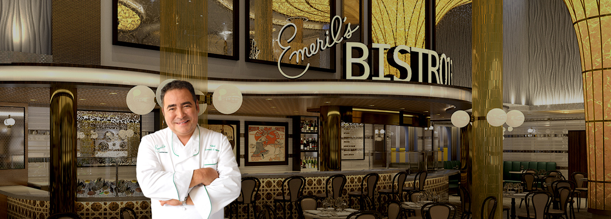 emeril lagasse standing in front of emeril's bistro 1396
