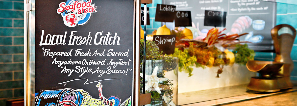 enjoy fresh seafood at Seafood Shack