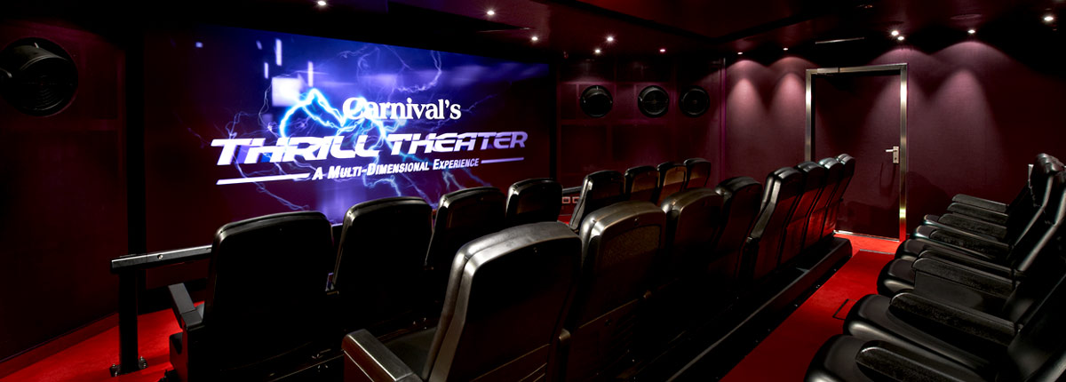 thrill theater on carnival cruise lines