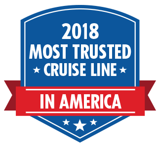2018 Most Trusted Cruise Line in America awards logo