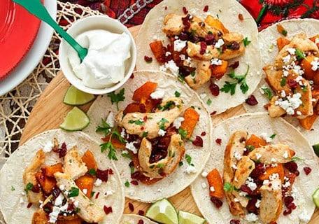 Roasted Butternut Squash & Turkey Tacos