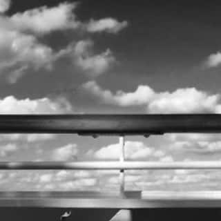 Ships railing, viewing sky