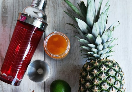 In the Tropics: A Pineapple Rum Cocktail