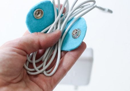 DIY Felt Cable Organizers