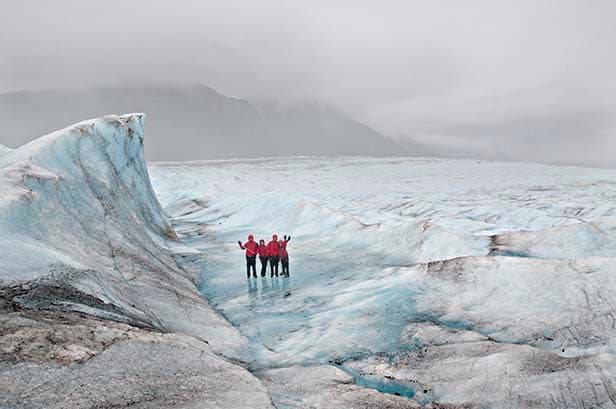 hikers in juneau, alaska