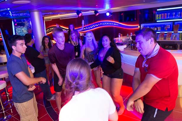 teens in a dance off at club o2