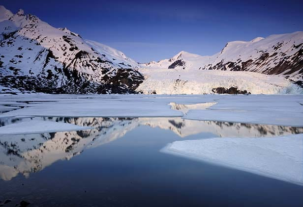 portage glacier in alaska