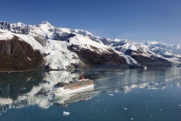 carnival ship cruising through alaska's inside passage