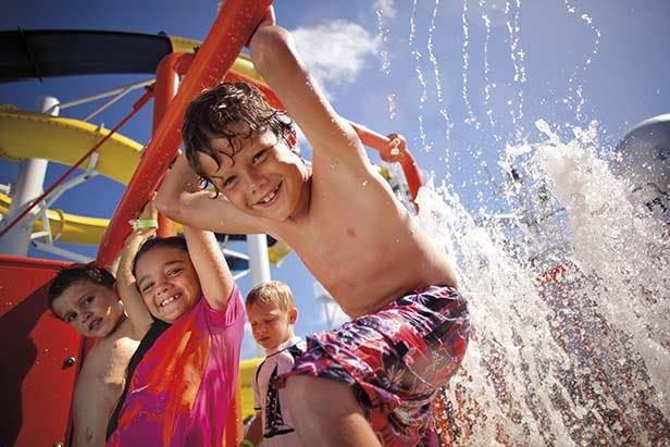 kids having fun at waterworks