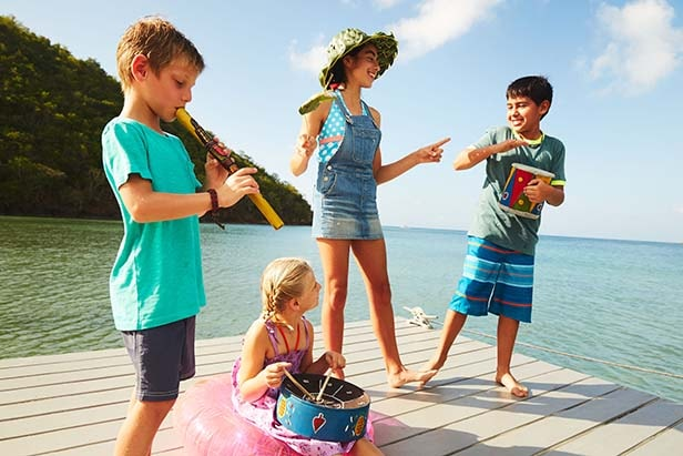 kids playing during their cruise vacation
