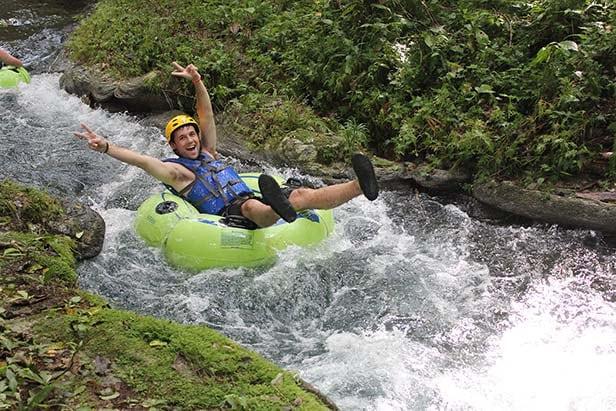 a man river tubing in ocho rios