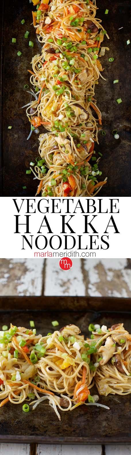 Vegetable Hakka noodles - a long banner
