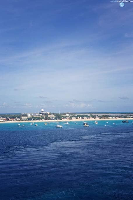 View of Grand Turk in the distance on the Carnival Sunshine