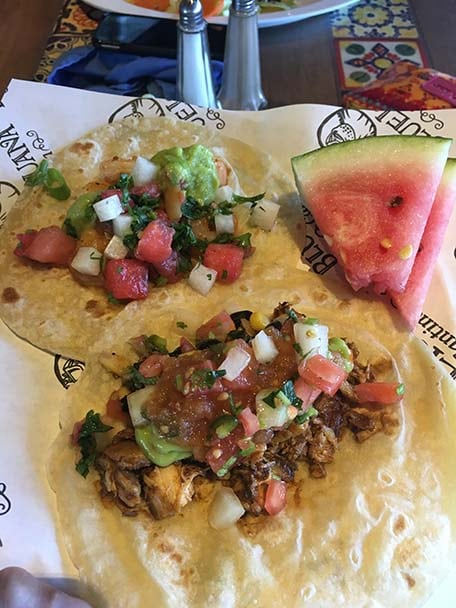 Tacos from BlueIguana Cantina