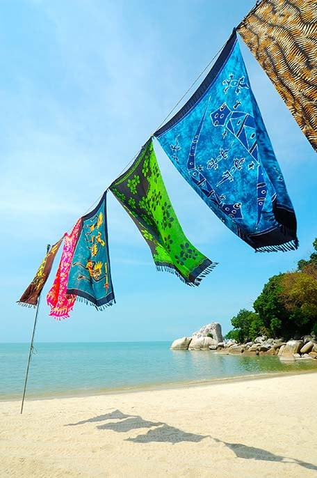 colorful batiks - traditional bright Bahamian fabrics