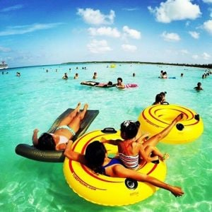 cruisers floating around in the Caribbean waters