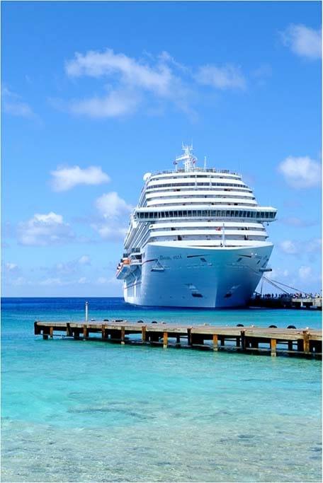 Carnival Vista docked in the Caribbean