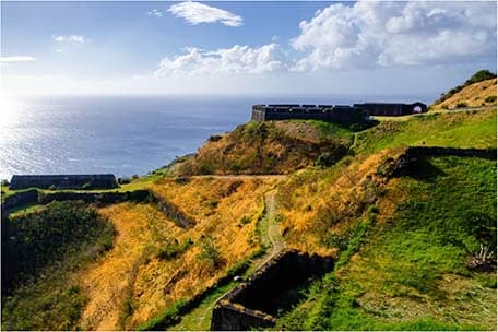The old fortresses at Brimstone Hill on St. Kitts