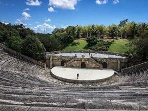 Romanesque–style amphitheater in Altos de Chavon