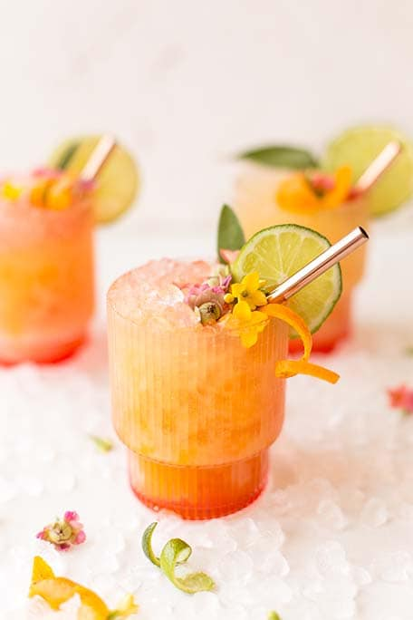 3 pineapple mango rum punch cocktails