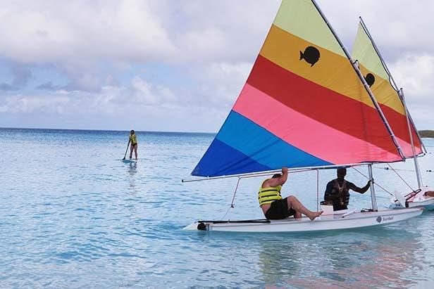 People enjoying the water activities in Half Moon Cay