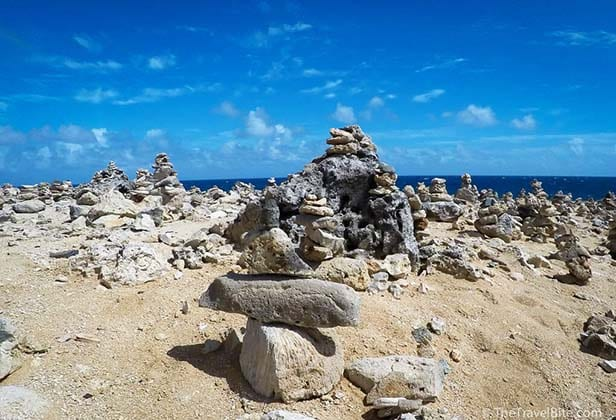 Stones stacked on top of each other in Aruba