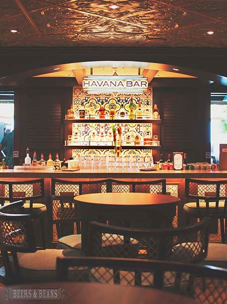 Havana Bar on the Carnival Vista