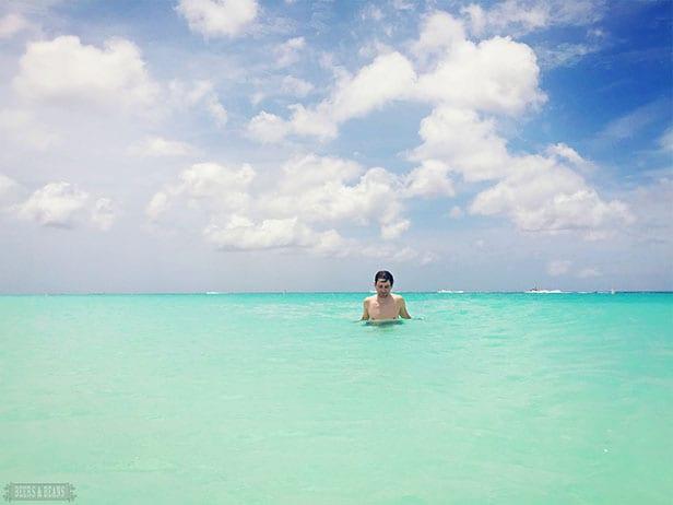 Randy in the ocean in Aruba