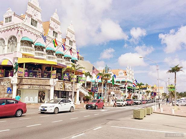 Restaurants and shops in Aruba