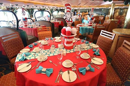a set table for dr. seuss green eggs and ham breakfast