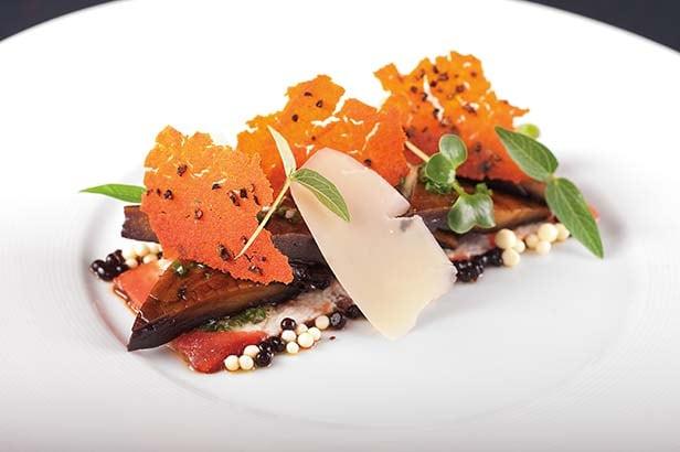 grilled portobello mushroom at the steakhouse