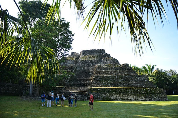 Mayan ruins in Costa Maya, Mexico