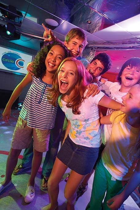 teens having fun in club o2