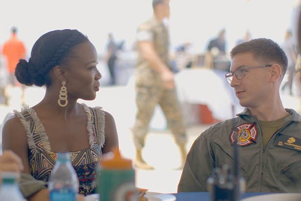 miss usa 2016 and us army captain share a conversation