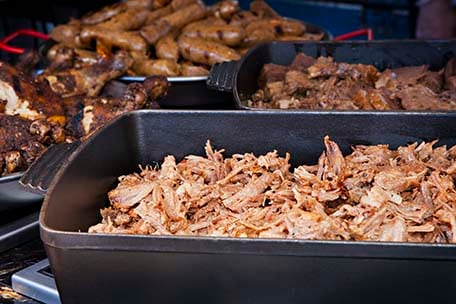 barbecued meats at ol fashioned bbq on carnival cruises
