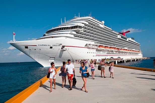 carnival dream docked in cozumel, mexico