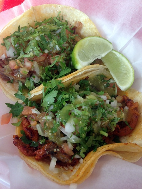 authentic mexican al pastor tacos