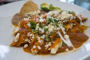 chilaquiles dish