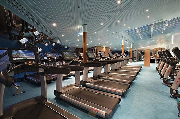 fitness center onboard a carnival cruise