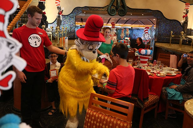 dr seuss characters and families at dr seuss green eggs and ham breakfast