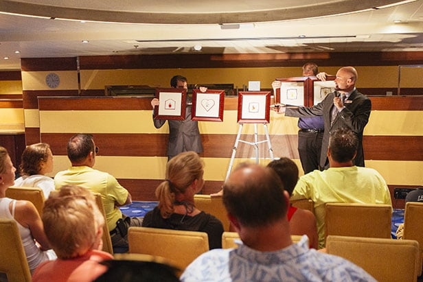 carnival cruise guests at the art auction