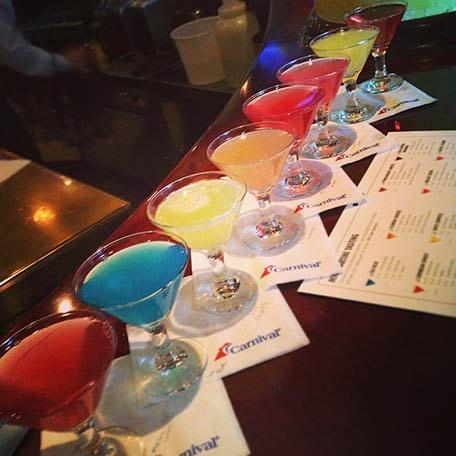 martini tasting line up