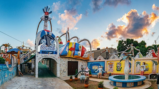 mosaic playground in fusterlandia havana, cuba