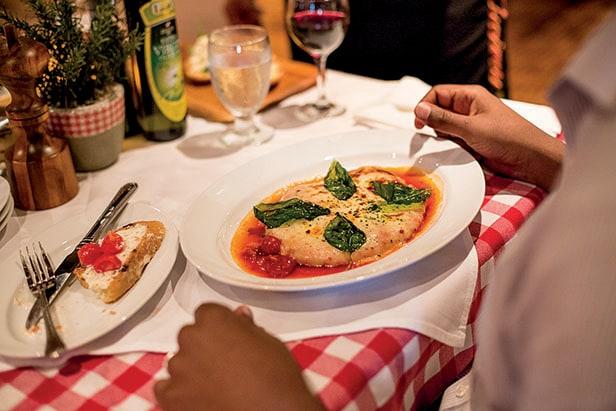 pasta dish at cucina del capitano